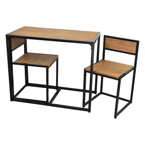 Compact 2 Seater Kitchen Dining Table and Chairs Space Saving Furniture Set