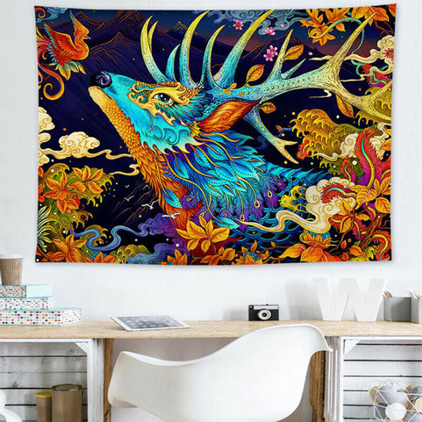 Japanese Ukiyoe Kanagawa Wave Wall Art Printed Paint Tapestry Home Bedroom Decor