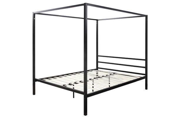 Modern Black Four Poster Bed Frame Metal Bed Frame Single Double King Size