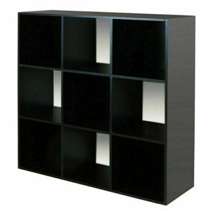 9 Cube Kids Black & White Toy/Games Storage Unit Girls/Boys Bedroom Shelves Rack