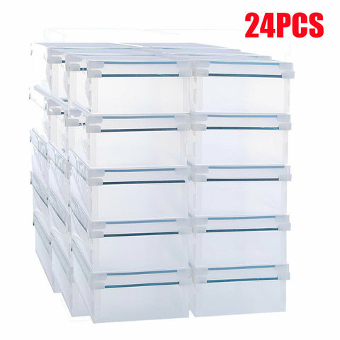 Stackable Plastic Shoe Home Storage Box Organiser