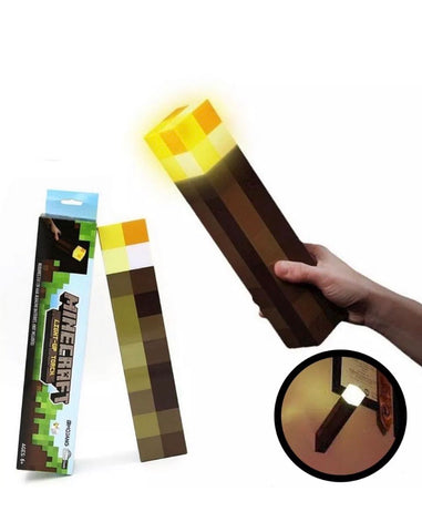 Minecraft Torch Light Up Diamond Night Lamp Redstone Ore Cube Toy Best Xmas Gift