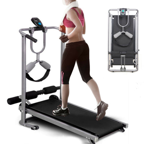Simple Folding Manual Home Treadmill