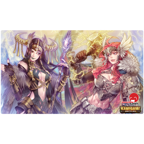 Kamigami Battles Playmat - Thor & Loki - BACKORDERED