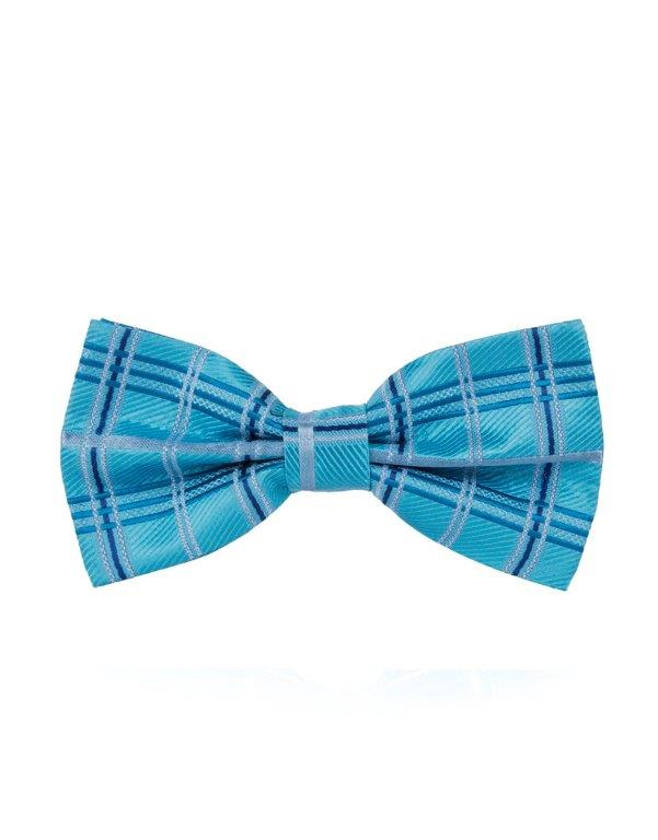 Blue Checkered Bow Tie