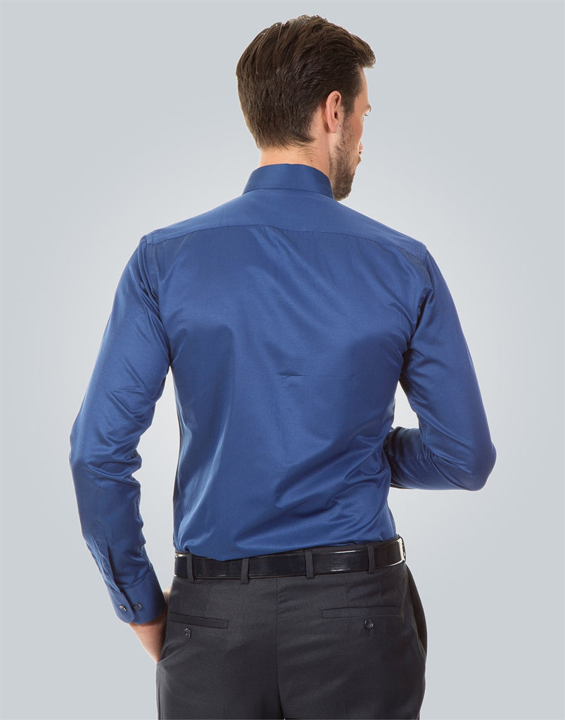 Plain Blue Modern Fit Shirt