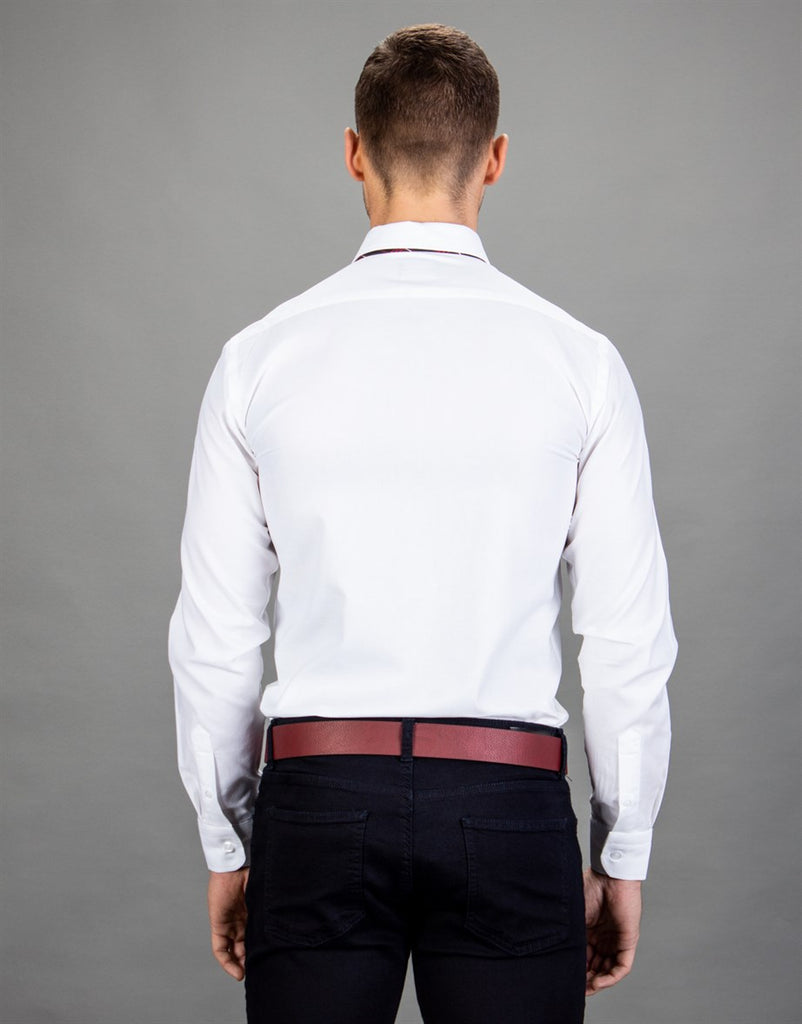 Slim Fit Stainless White Men Shirt