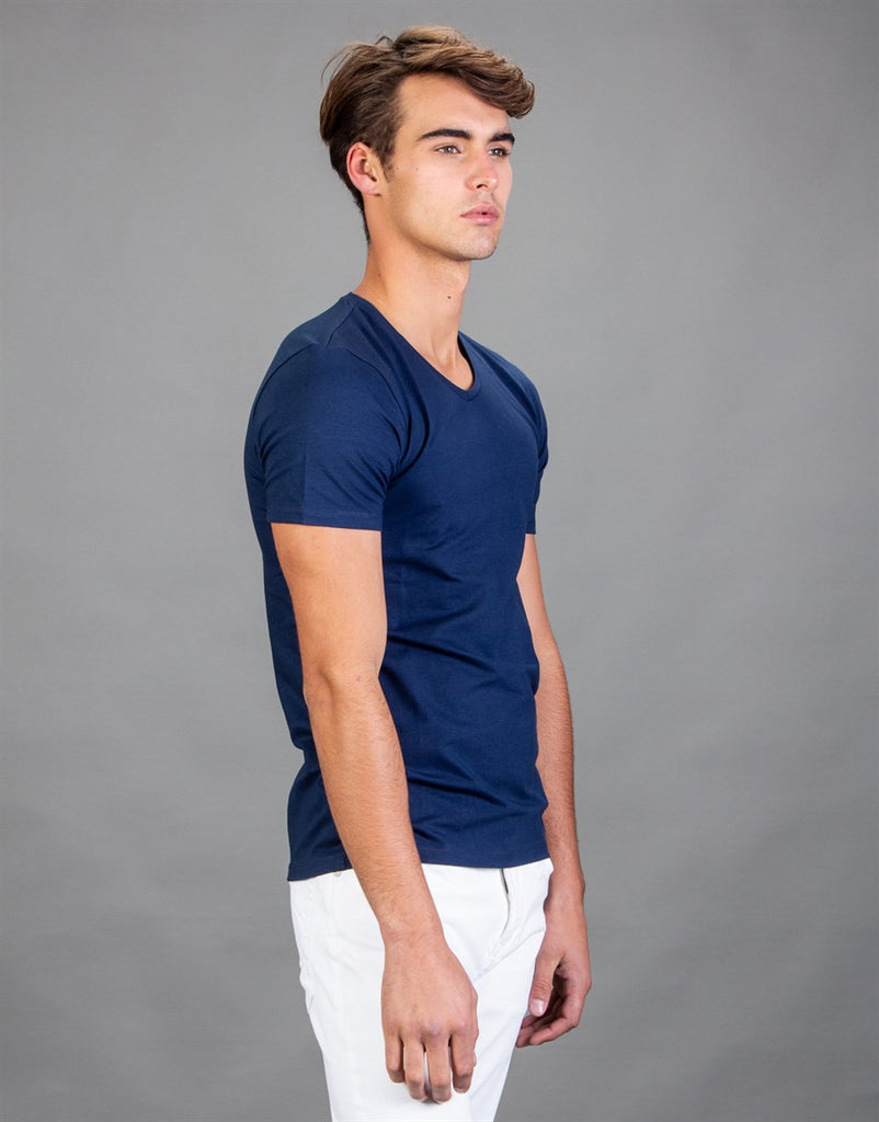 Plain Blue Crew Neck T-Shirt