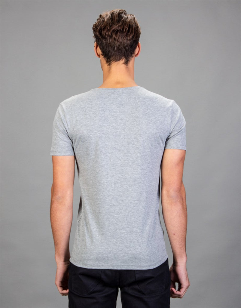 Plain Grey Crew Neck T-Shirt