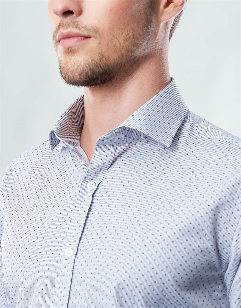 Polka Dot Slim Fit Men Shirt