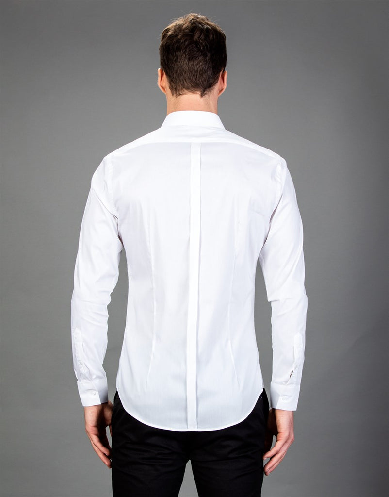 Plain White Super Slim Fit Men Shirt