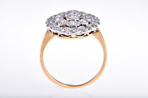 Georgian Two Tone Diamond Ring