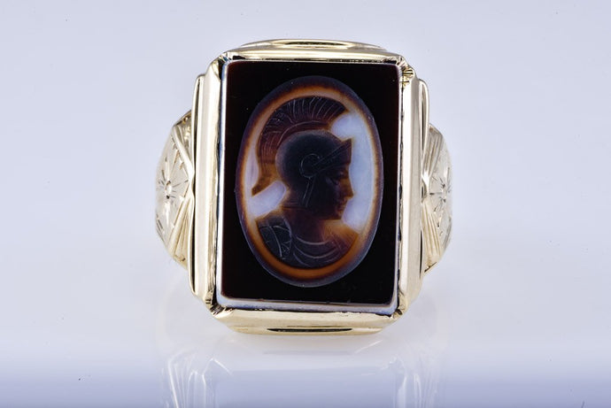 Estate Gents Hellenic Yellow Gold Ring