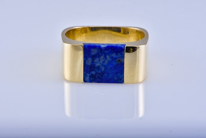 Estate Tiffany & Co Yellow Gold & Lapis Ring
