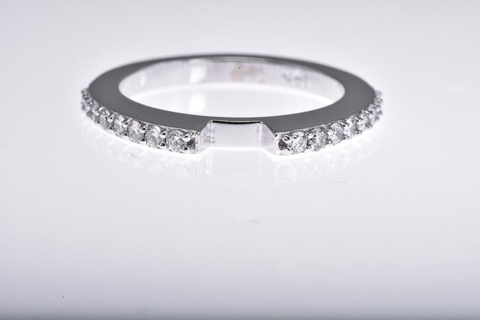 14Kt white gold diamond semi mount ring