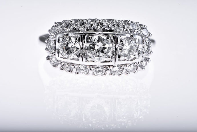 14Kt white gold Princess Style Diamond Ring