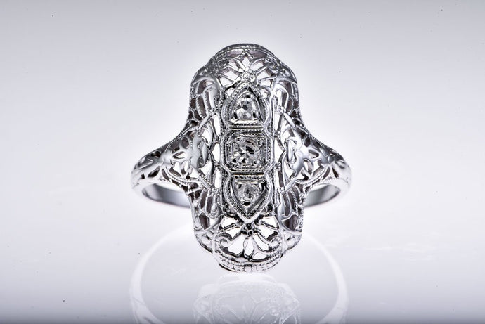 Duchess Style Fillegree Diamond Ring