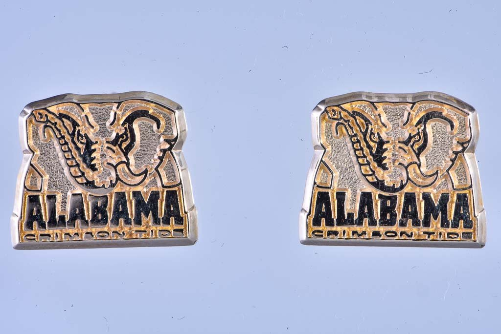 10Kt yellow gold University of Alabama earrings