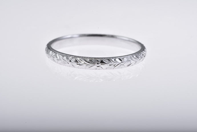 Platinum Engraved all around Band
