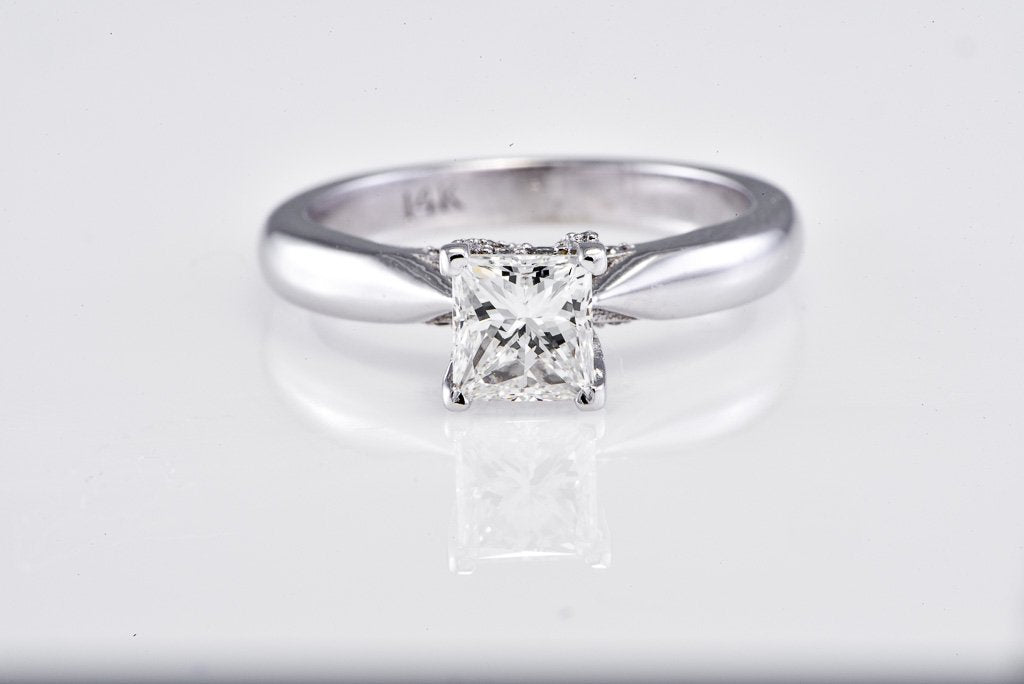 Double Halo Oval Diamond Ring