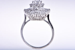 Platinum Diamond Ballerina Ring