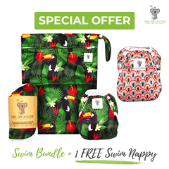 Baby & Toddler Swim Bundle- Toucan Jungle + 1 FREE Swim Nappy!