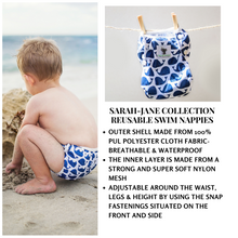 Load image into Gallery viewer, Baby & Toddler Swim Bundle- Blue Whale + 1 FREE Swim Nappy!