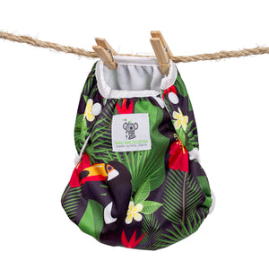 Reusable Swim Nappy & Waterproof Wet Bag- Toucan Jungle