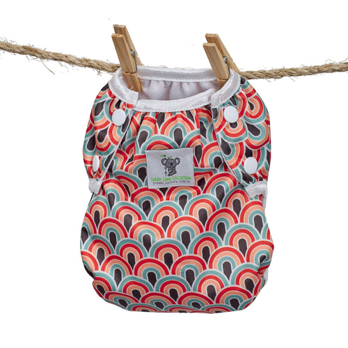 Reusable Swim Nappy- Boho Rainbow LARGE