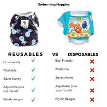 Load image into Gallery viewer, Reusable Swim Nappy- Octopus LARGE