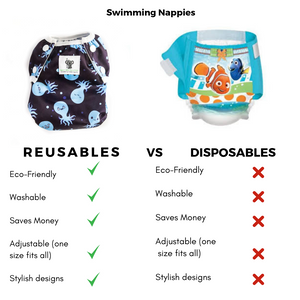 Reusable Swim Nappy- Octopus LARGE