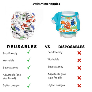 Reusable Swim Nappy- Shark