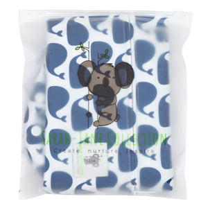 Waterproof Zip Wet Bag (Large) - Blue Whale- 40x30cm