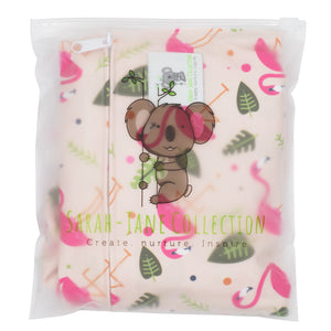 Waterproof Zip Wet Bag (Large) - Pink Flamingo- 40x30cm