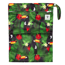 Load image into Gallery viewer, Waterproof Zip Wet Bag (Large) - Toucan Jungle - 40x30cm