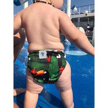 Load image into Gallery viewer, Reusable Swim Nappy- Toucan Jungle LARGE