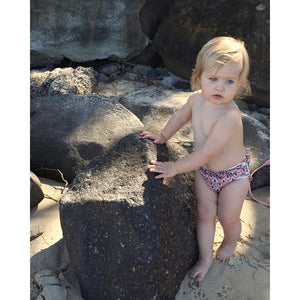 Reusable Swim Nappy & Waterproof Wet Bag- Boho Rainbow