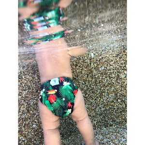 Reusable Swim Nappy Bundle- Set of 2 - Rainbow & Toucan Jungle