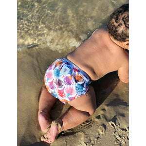 Reusable Swim Nappy & Waterproof Wet Bag- Carnival Feather