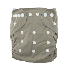 Load image into Gallery viewer, Modern Cloth Nappy (Pocket-OSFM)- 0-3 yrs- Slate Grey