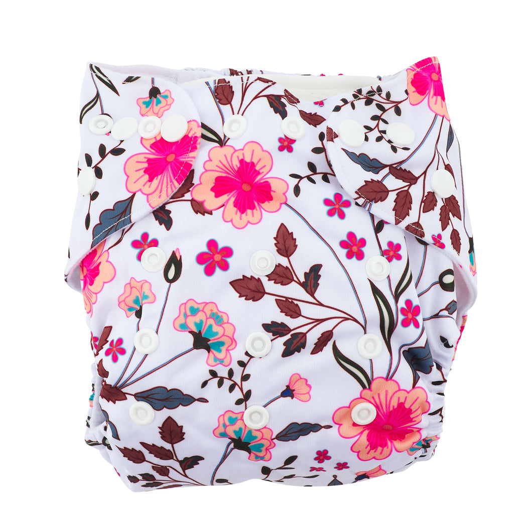 Modern Cloth Nappy (Pocket-OSFM)- 0-3 yrs- Spring Meadow
