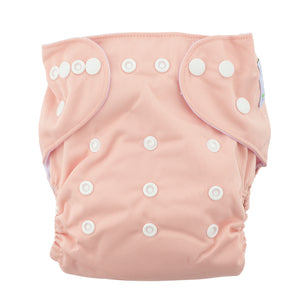 Modern Cloth Nappy (Pocket-OSFM)- 6 Starter Pack- 0-3 yrs Peacock/ Dusty Pink/ Spring Meadow & Rainbow