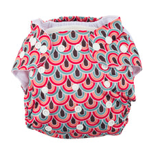 Load image into Gallery viewer, Modern Cloth Nappy (Pocket-OSFM)- 6 Starter Pack- 0-3 yrs Peacock/ Dusty Pink/ Spring Meadow & Rainbow