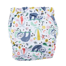 Load image into Gallery viewer, Modern Cloth Nappy (Pocket-OSFM)- 0-3 yrs- Sloth