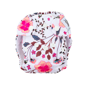 Modern Cloth Nappy (Pocket-OSFM)- NEWBORN 0-3 months- Spring Meadow