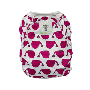Reusable Swim Nappy- Fuschia Pink Whale