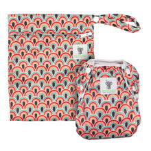 Load image into Gallery viewer, Reusable Swim Nappy & Waterproof Wet Bag- Boho Rainbow