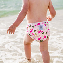 Load image into Gallery viewer, Reusable Swim Nappy- Pink Flamingo