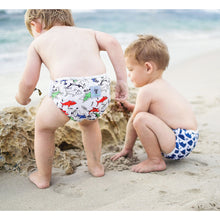 Load image into Gallery viewer, Reusable Swim Nappy & Waterproof Wet Bag- Shark