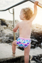Load image into Gallery viewer, Reusable Swim Nappy- Purple Whale